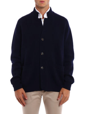 Brunello Cucinelli: cardigans online - Wool cashmere and silk cardigan