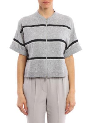 Brunello Cucinelli: cardigans online - Zip fastened cashmere cardigan