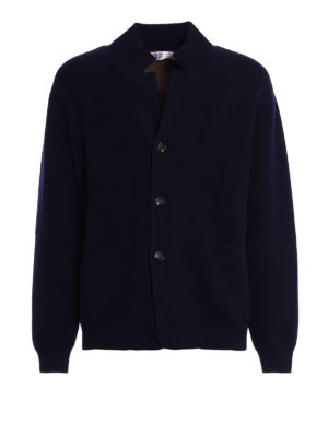 Brunello Cucinelli: cardigans - Wool cashmere and silk cardigan