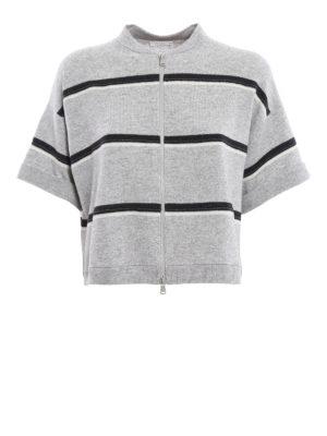 Brunello Cucinelli: cardigans - Zip fastened cashmere cardigan