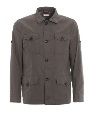 Brunello Cucinelli: casual jackets - Coated cotton field jacket