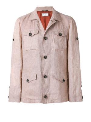 Brunello Cucinelli: casual jackets - Delavé linen sahariana jacket