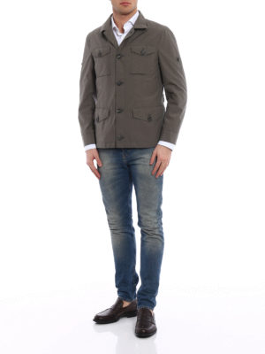 Brunello Cucinelli: casual jackets online - Coated cotton field jacket