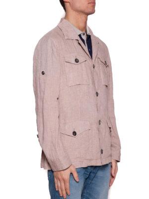Brunello Cucinelli: casual jackets online - Delavé linen sahariana jacket