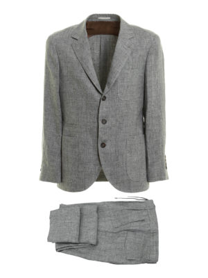 Brunello Cucinelli: casual suits - Linen melange casual suit