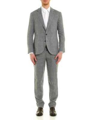 Brunello Cucinelli: casual suits online - Linen melange casual suit