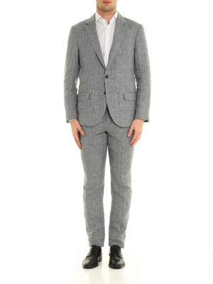 Brunello Cucinelli: casual suits online - Linen two-piece suit