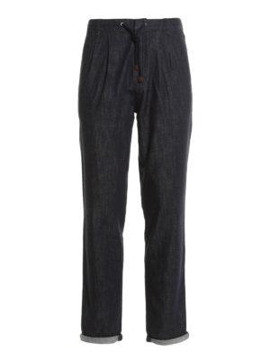 Brunello Cucinelli: casual trousers - Cotton denim casual trousers