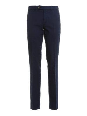 Brunello Cucinelli: casual trousers - Cotton slim fit trousers