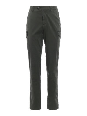 Brunello Cucinelli: casual trousers - Dark green cotton cargo trousers
