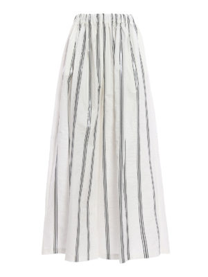 Brunello Cucinelli: casual trousers - Dazzling striped skirt trousers