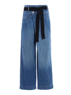 Brunello Cucinelli: casual trousers - Denim wrap trousers