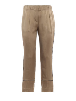 Brunello Cucinelli: casual trousers - Elasticated crop trousers
