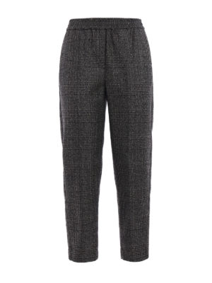 Brunello Cucinelli: casual trousers - Fluid Cigarette wool trousers