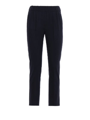Brunello Cucinelli: casual trousers - Light wool tapered trousers