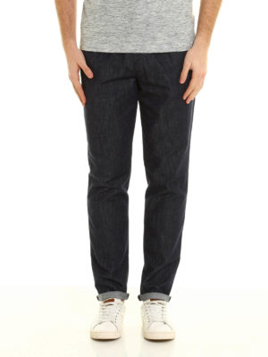 Brunello Cucinelli: casual trousers online - Cotton denim casual trousers