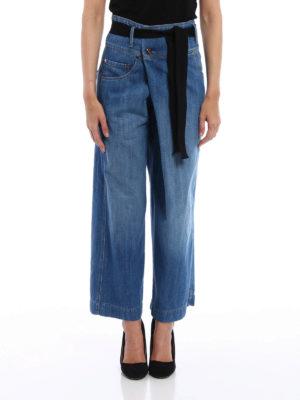 Brunello Cucinelli: casual trousers online - Denim wrap trousers