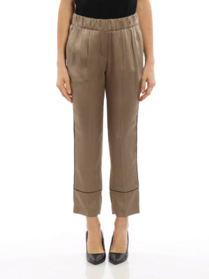 Brunello Cucinelli: casual trousers online - Elasticated crop trousers
