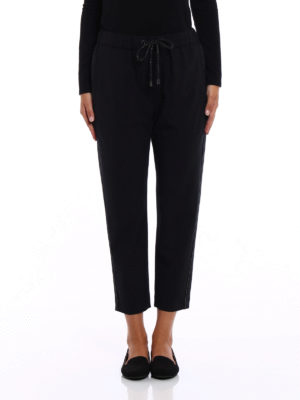 Brunello Cucinelli: casual trousers online - Light wool embellished trousers
