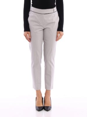 Brunello Cucinelli: casual trousers online - Monili trimmed cotton trousers