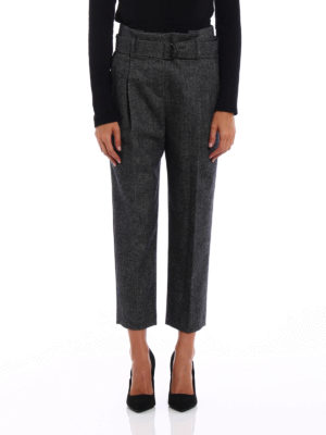Brunello Cucinelli: casual trousers online - Paper Bag cashmere blend trousers
