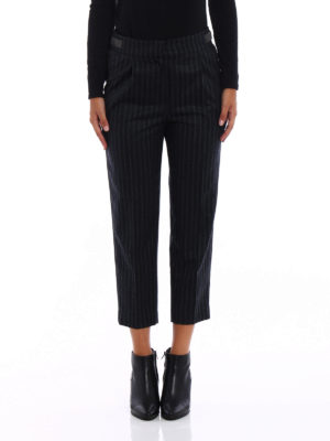 Brunello Cucinelli: casual trousers online - Striped wool monili trousers