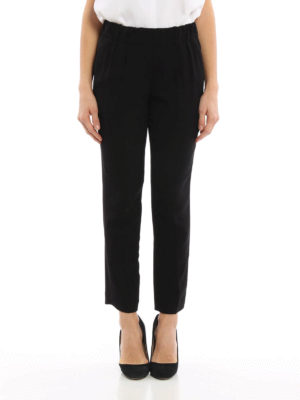 Brunello Cucinelli: casual trousers online - Viscose tapered trousers