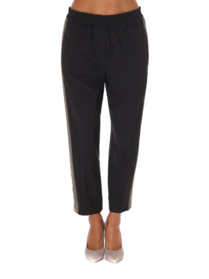 Brunello Cucinelli: casual trousers online - Wool blend pull-on trousers