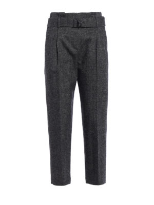 Brunello Cucinelli: casual trousers - Paper Bag cashmere blend trousers