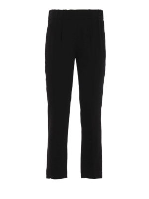 Brunello Cucinelli: casual trousers - Viscose tapered trousers
