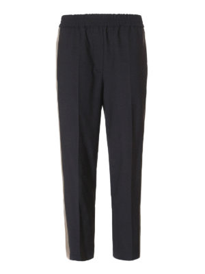 Brunello Cucinelli: casual trousers - Wool blend pull-on trousers