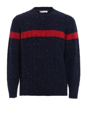 Brunello Cucinelli: crew necks - Bouclé twist knitted wool sweater