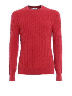 Brunello Cucinelli: crew necks - Braided cotton crew neck pullover