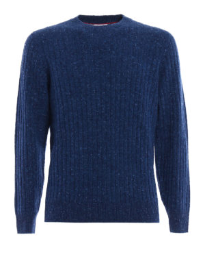 Brunello Cucinelli: crew necks - Cashmere and wool ribbed sweater