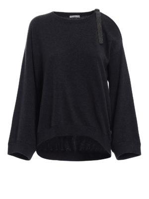 Brunello Cucinelli: crew necks - Cashmere precious detail sweater