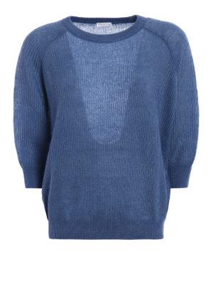 Brunello Cucinelli: crew necks - Fisherman rib mohair blend sweater