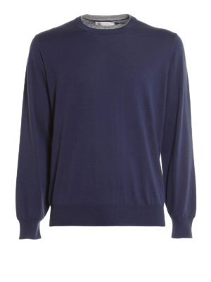 Brunello Cucinelli: crew necks - Knitted cotton crewneck