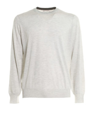 Brunello Cucinelli: crew necks - Knitted wool and cashmere crewneck