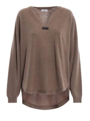 BRUNELLO CUCINELLI: maglia collo rotondo - Pull in cashmere naturale con punto luce