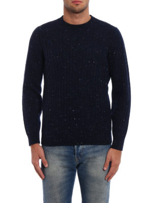 Brunello Cucinelli: crew necks online - Cashmere and wool ribbed sweater