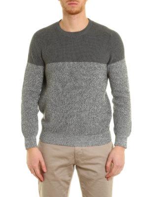 Brunello Cucinelli: crew necks online - Knitted cotton bi-colour crewneck