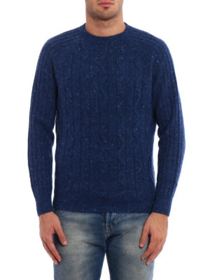 Brunello Cucinelli: crew necks online - Twist and rib knitted wool sweater