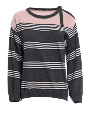 Brunello Cucinelli: crew necks - Stripes & Color cashmere sweater
