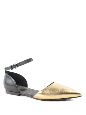 Brunello Cucinelli: flat shoes online - Cut-out laminated flats