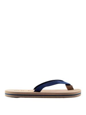 Brunello Cucinelli: flip flops - Cotton flip flops
