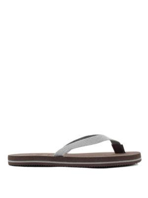Brunello Cucinelli: flip flops online - Cotton flip flops