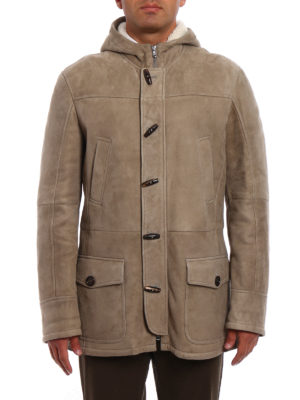 Brunello Cucinelli: Fur & Shearling Coats online - Suede shearling montgomery