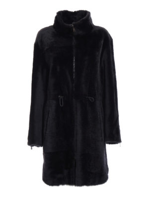 Brunello Cucinelli: Fur & Shearling Coats - Shiny reversible shearling coat