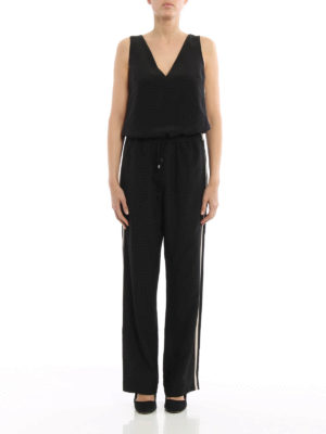 Brunello Cucinelli: jumpsuits online - Silk crepe de chine shiny jumpsuit