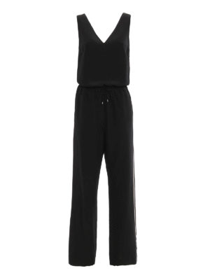 Brunello Cucinelli: jumpsuits - Silk crepe de chine shiny jumpsuit